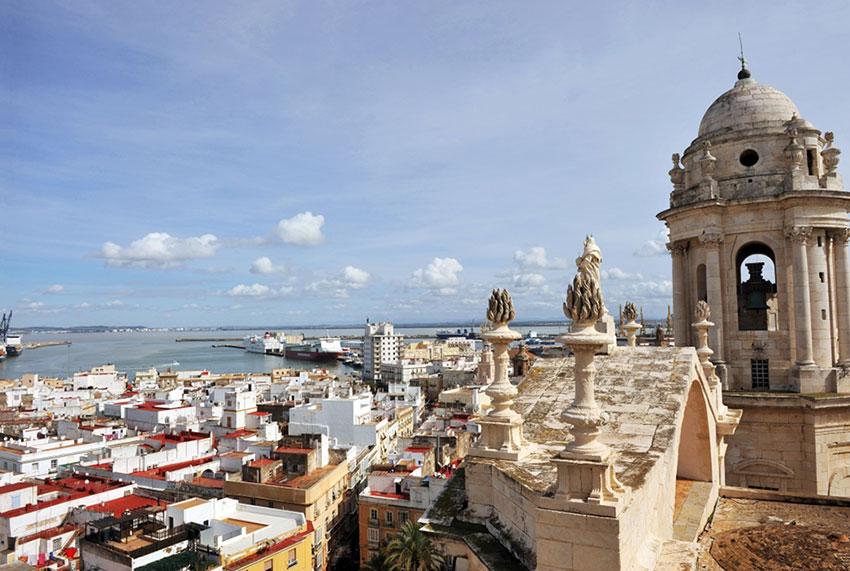 Vistas de La ciudad de Cádiz